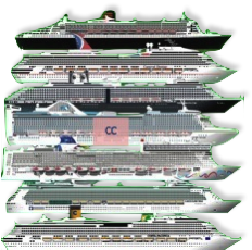 Liniile noastre de croaziera - Costa, NCL, Princess, Cunard, MSC, Royal Caribbean, Holland America etc.